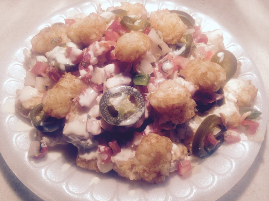 Delicious Totchos From Sivori Catering.